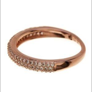NADRI Pave CZ Thin rose🌹 gold Band Ring - Size 6